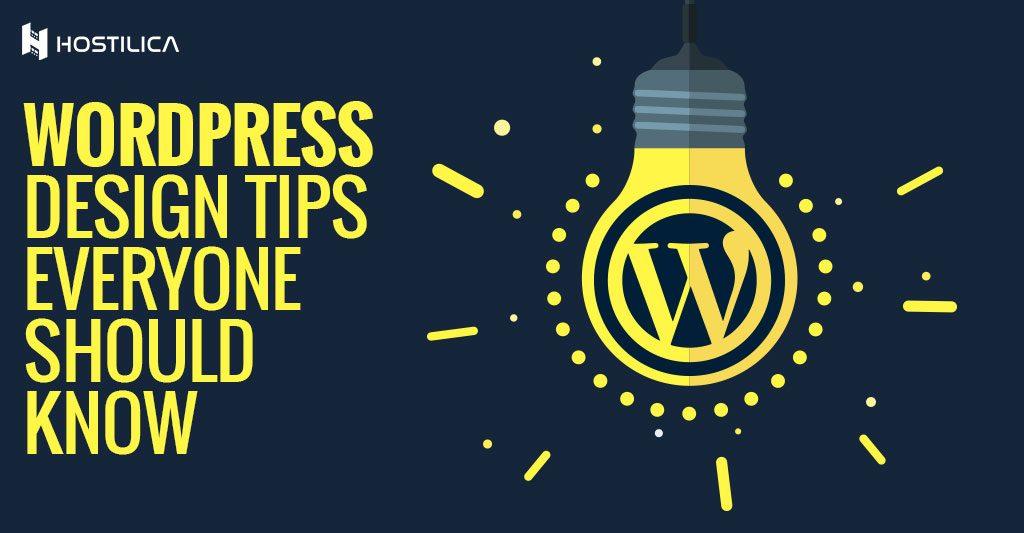 WordPress design tips